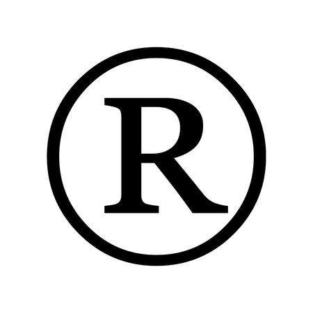 Registered trademark symbol isolated on white