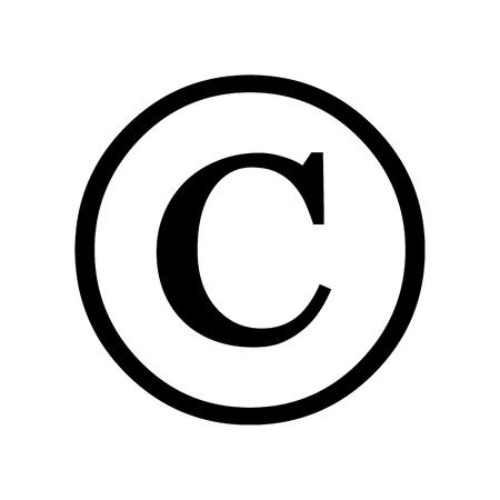 Copyright symbol isolated on white