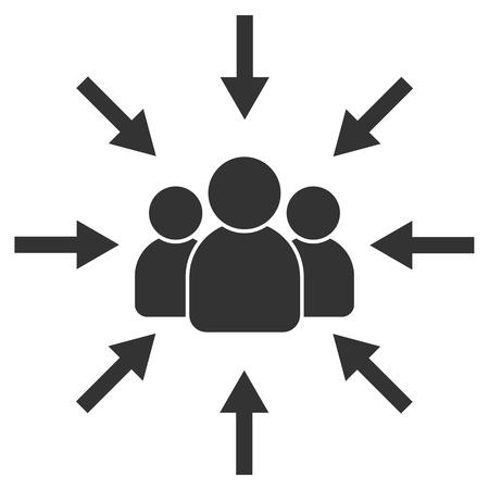 Público objetivo. Cliente, orientación al cliente. Centrado en el consumidor. Enfoque personas firman