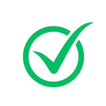 Símbolo de marca de verificación, icono de casilla de verificación