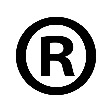 Registered trademark symbol isolated on white Standard-Bild - 114283796