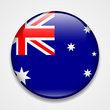 Flag of Australia. Round glossy badge Banco de Imagens - 114283828