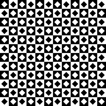 Black and white checkered seamless pattern. Endless background. Standard-Bild - 114283831