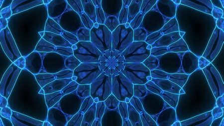 Abstract cosmic chaos background. Symmetric kaleidoscope backdrop from Liquid hypnotic rays.
