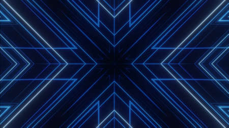 Abstract tribal background. Symmetric kaleidoscope backdrop from hypnotic rays.
