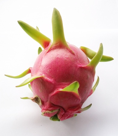 A whole and half dragon fruit Stock Photo