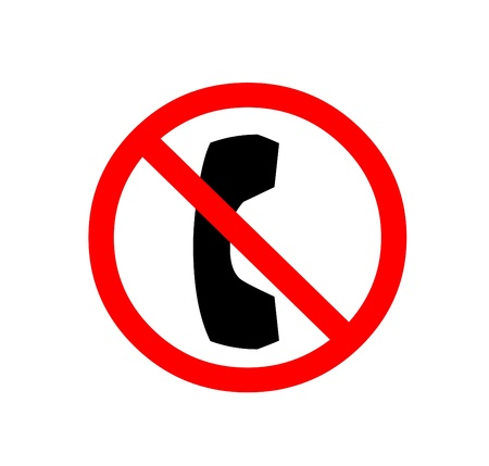allow: No cellphones sign Stock Photo