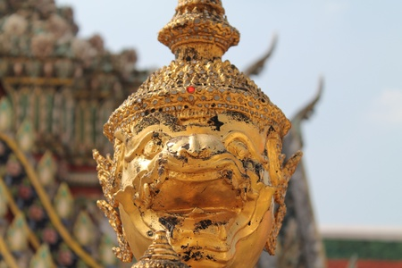 Demon Guardian Statues at Wat Phra Kaew photo