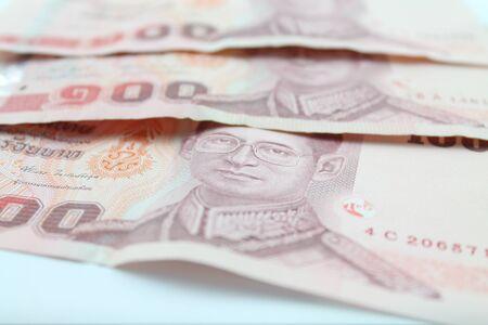 100 baht Thailand money Stock Photo