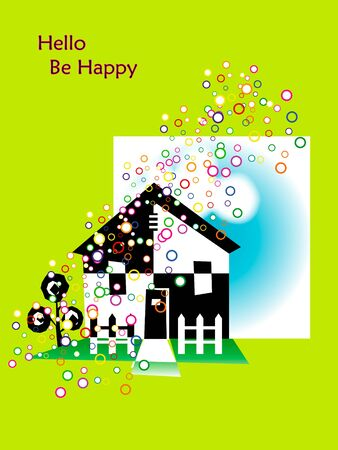 a house is happy