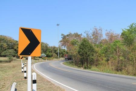 roadwork: Traffic signs.  Stock Photo