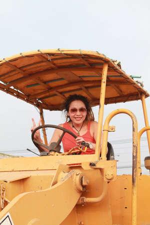 Beautiful natural woman smiling