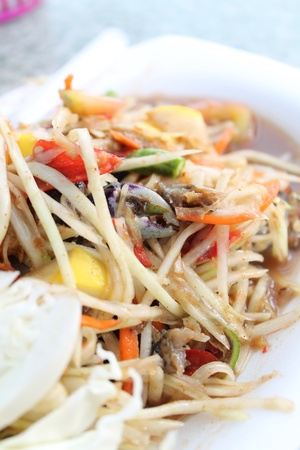 a photo of delicious thai food  photo