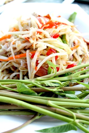 Green papaya salad  Stock Photo - 13165495