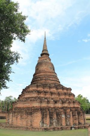 Mahathat temple in Sukhothai Historical Park , Thailand