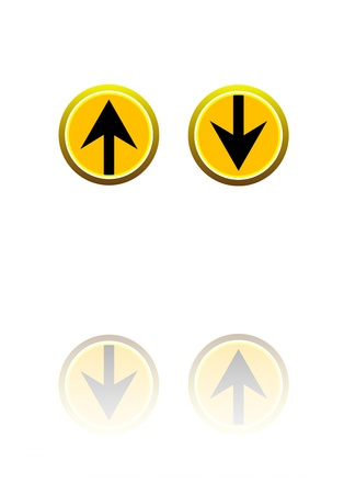 3D Up and Down Arrows Stock Photo