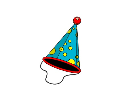 dressing up party: Blue party hat with stripes