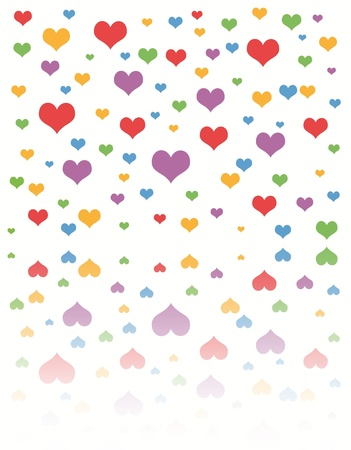 Pink Hearts isolated on white background  Stock Photo