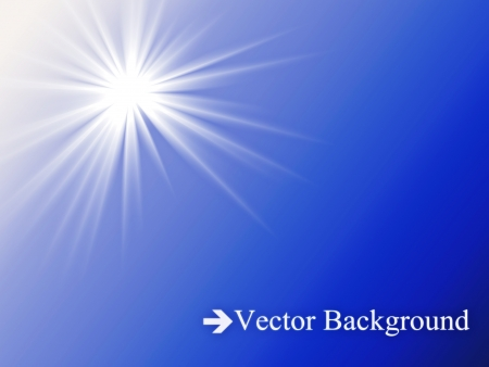 The sun in the blue sky  Vector illustration