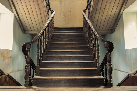 abandoned room: vintage stair