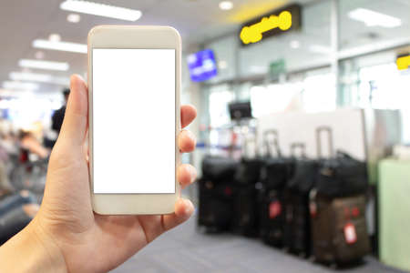 Mobile screen blank and Airport check-in counter