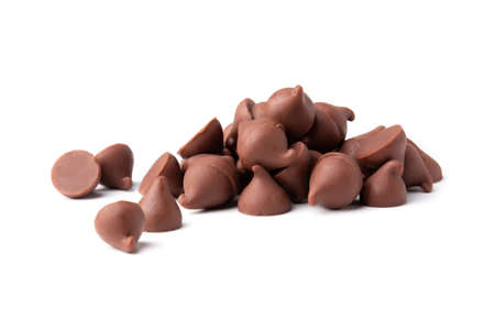 chocolate piece isolated on white background