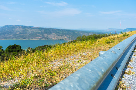 The dams view from the mountain in Nakhon Ratchasima Stock Photo