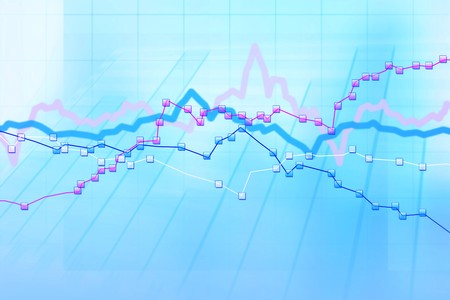 Abstract blue background of stock charts computer diagram Stock Photo - 7999759
