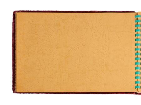 papier naturel: ancien album page vierge papier naturel arri�re-plan close-up