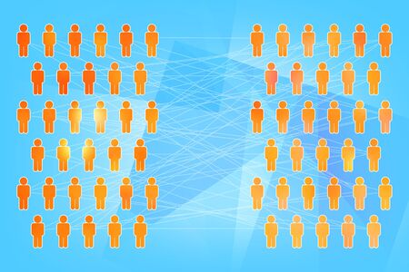 social  networking concept a lot of people connected by a network Stock Photo - 8074824