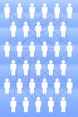 social  networking concept a lot of people connected by a network Stock Photo - 8074821