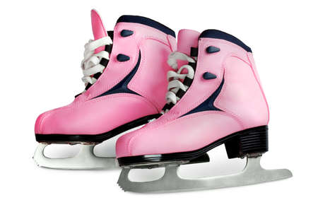 womens skates pink color image isolated on a white background photo
