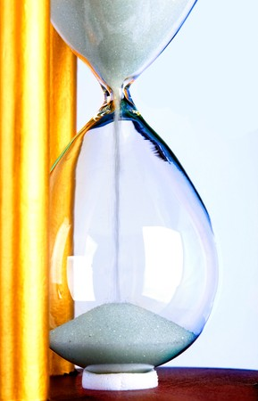 hourglass time deadline concept color image close-up Stock Photo - 8156448