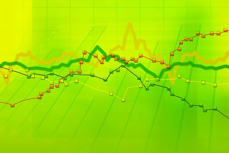 Abstract green background of stock charts computer diagram photo