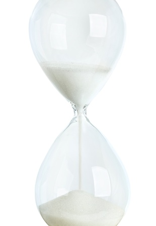 sand timer: hourglass time concept color image isolated on a white background
