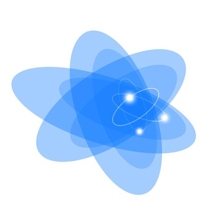 Atom. Abstract background for technology, business, computer or electronics products. Isolated. photo