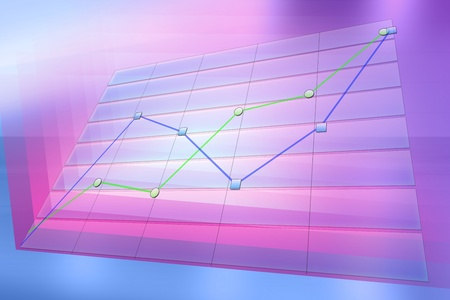 Positive business trend chart. Abstract background for technology, business, computer or electronics products. High quality image.