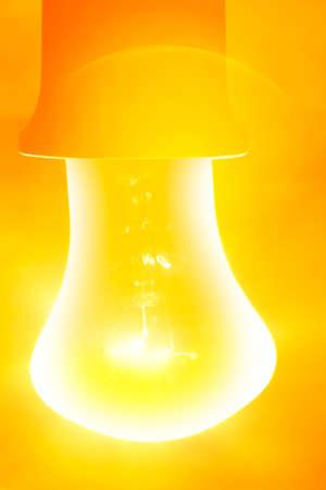bright  lighting glowing bulb lamp Stock Photo - 8701346