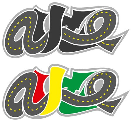Graffiti route auto logo isolé