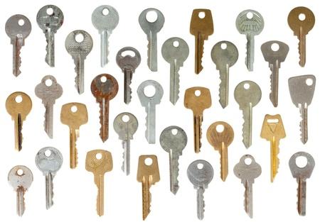 passkey: set of keys isolated on white background