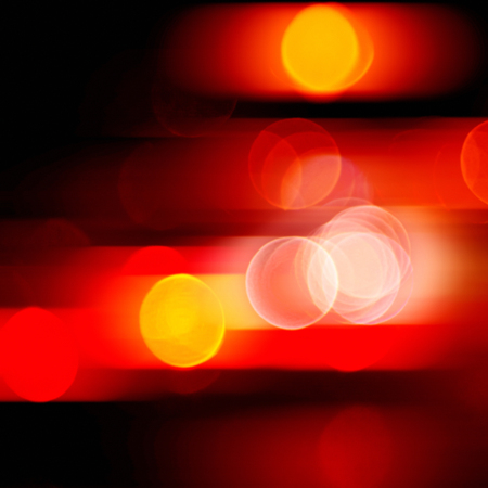 blurred red lights abstract color background Stock Photo