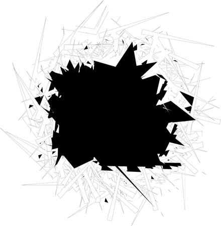 radial cracks: Vector illustration. Broken glass  with sharp edges background. Comic book style. Image with place for text.