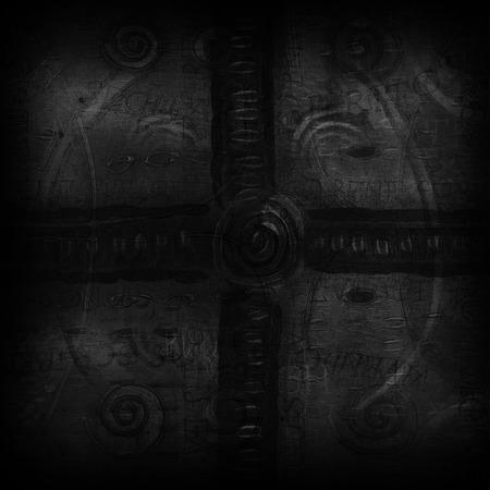 dark: Abstract dark vintage background