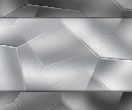 reflect: Reflect metal texture neutral background with brushed chrome surface Stock Photo