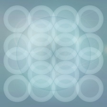 esoteric: Sacred geometry abstract symbol blue background, esoteric sign