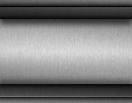 titanium plate: Dark metal background with brushed texture, illustration for tech products