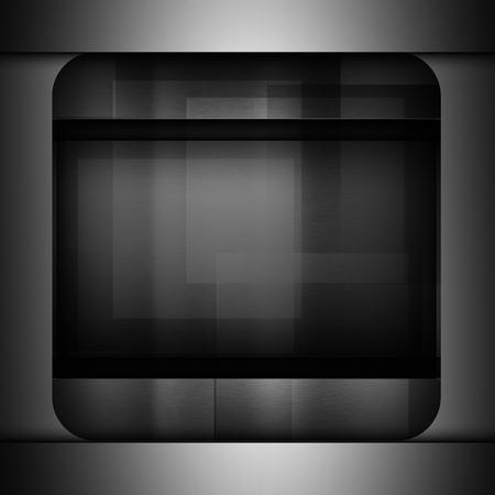 brushed: Dark metal brushed texture background Stock Photo