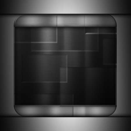 brushed: Dark metal brushed texture background Stock Photo