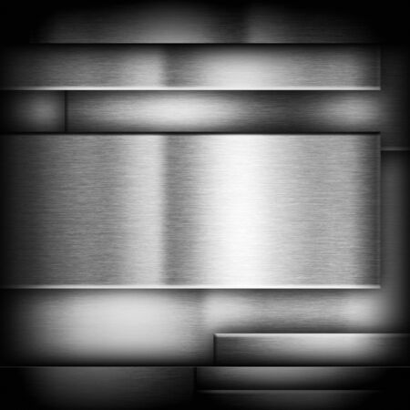 heavy effect: Dark metal background with brushed texture, illustration for tech products