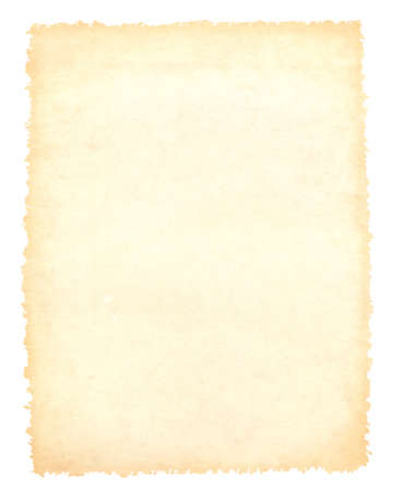craft material: Blank vintage brown paper background, craft material, isolated on white Stock Photo